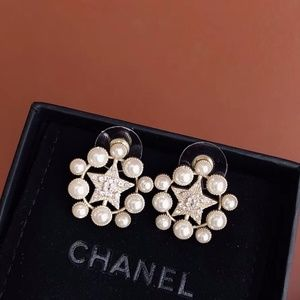 C star earrings